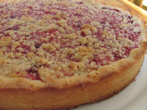 tarte sablée fruits rouges crumble